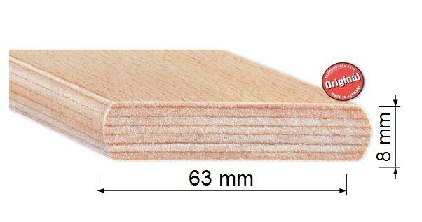 Lamela 6,3 cm buková