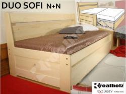 Jednolůžko DUO s opěrkou SOFI N+N