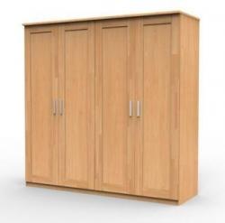 Šatní skříně UNI dub 4 dveřová