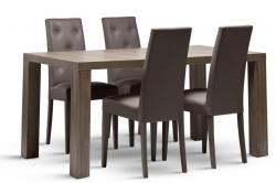 Jídelní stůl LEON a židle FIVE