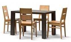 Jídelní stůl LEON a židle ORLY