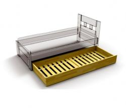Přistýlka dub<br/>Dubová přistýlka pod postel je již s laťovým roštem. Dubový nábytek dodáváme pouze v přírodním odstínu.