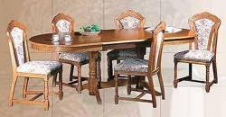 Rustikální jídelní stůl PARIS, rozkládací