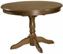 Rustikální stůl kulatý KARIO - rozkládací