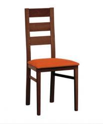 Jídelní židle v moření tmavě hnědé a potah MICRA terracotta bez příplatku