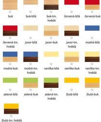 barevné kombinace stolu RIGIDO