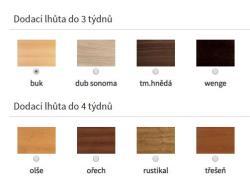 odstíny židlí<br/>výběr odstínů židlí