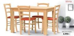 set židlí Paysane a stolu TANGO