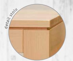 Jídelní stůl CALLISTO - detail hrany stolu
