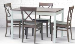 Jídelní stůl TWIN + židle GRANDE masiv