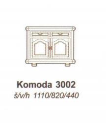 Komoda rustikální 3002