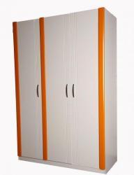 Dětská skříň DIANA třídvéřová - oranžová