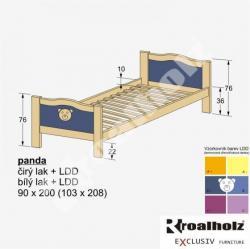 Barevná rozkládací patrová postel PANDA