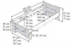 schema postele NELA LTD<br/>ve schematickém obrázku můžete vidět veškeré seriově vyráběné modely postele NELA LTD