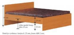 postel SIMONA s rozměry