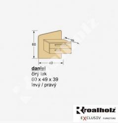 Závěsný noční stolek Daniel - rozměry