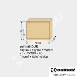 Peřináč DUE - rozměry