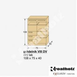 Prádelník VIII DV - rozměry