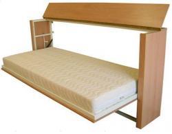 Sklopná jednolůžková postel s bočním vyklápěním