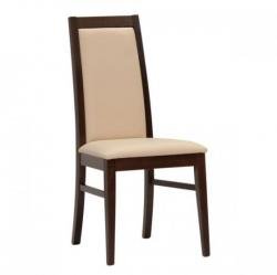 židle YANG, tmavě hnědá + koženka beige