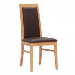 židle YANG, buk + koženka marrone
