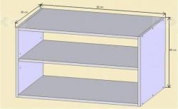 Nádstavec nad skříň N02 schema