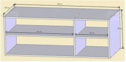 Nádstavec nad skříň N03 schema