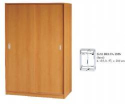 Šatní skříň DELTA 135s/150s