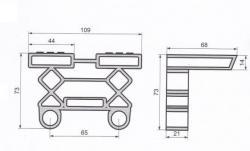 schema s rozměry - lamelové pouzdro K38/8-P