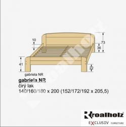 Moderní masivní dvoulůžko GABRIELA NR